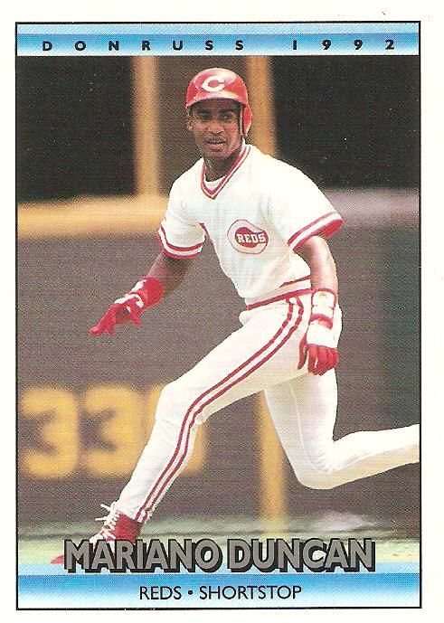 Mariano Duncan Dominican Baseball Baseball Cincinnati Reds