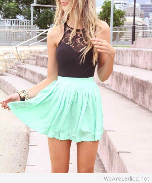 Assured, cute teen girl mini skirt