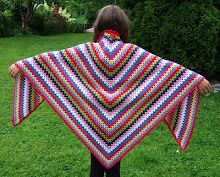 Granny shawl with tute!