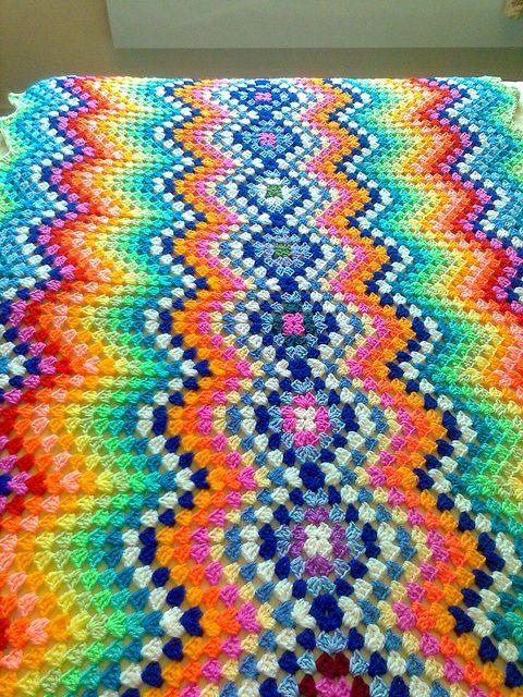 Great way to make a blanket. Love it!   Crochet   Pinterest   Manta ...
