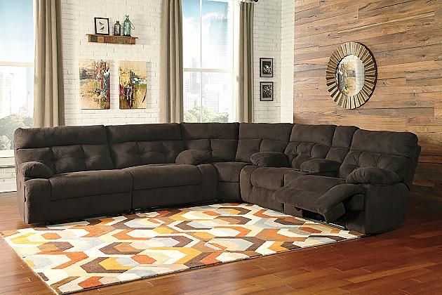 Chocolate Overly 3 Piece Sectional Non Power View 1