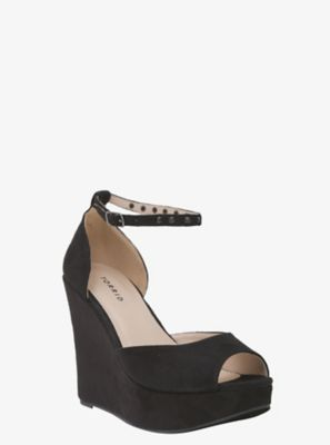be2c70545906  46.50 Spiked Ankle Strap Wedge Platforms (wide Width) at Torrid.com ...