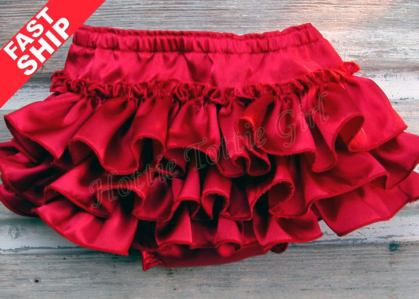 1ab517f85d FAST SHIP ReD SAtIN Ruffle Bloomers Baby Ruffle Diaper Cover Red Satin  Christmas Baby Bloomers