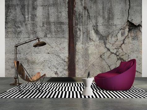 Tapeten im Wohnzimmer; Architects Paper Fototapete «Marode ...