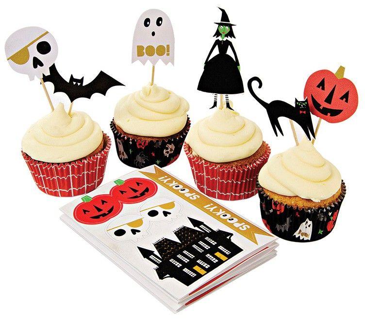 Something Wicked Halloween Cupcake Kit $2200 Emiko Blue Shop - cake decorations for halloween