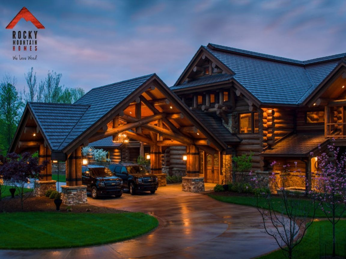 Mountain Lodge Style Home Plans Log Homes House Exterior Dream House Exterior