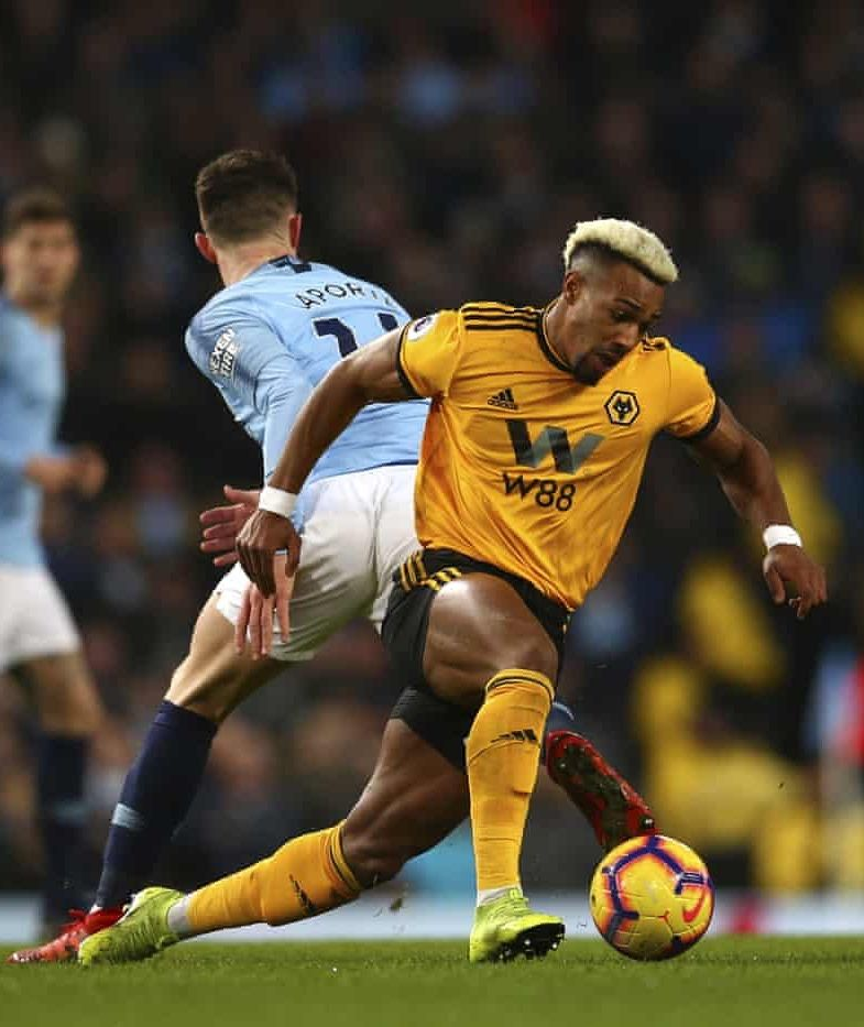 20190114 Manchester City 3 0 Wolverhampton Adama Traore Dave Thompson Ap In 2020 English Football League Sports Football Players