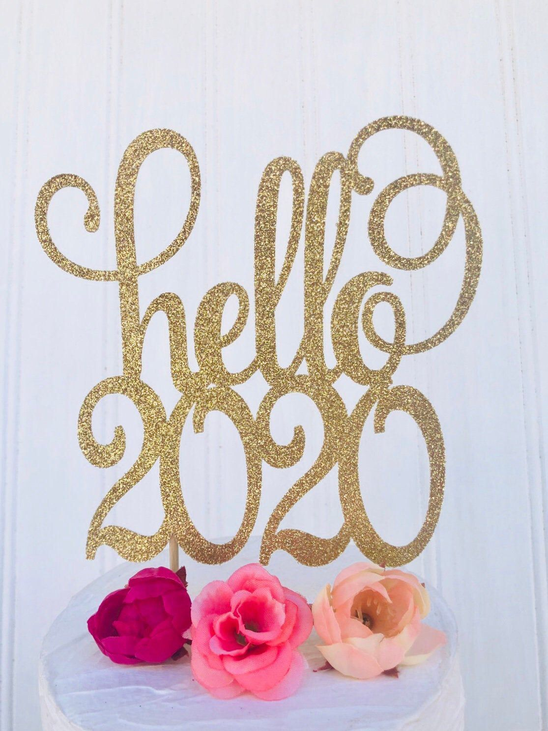 2020 Cake Topper, Hello 2020 Cake Topper, New Years Eve