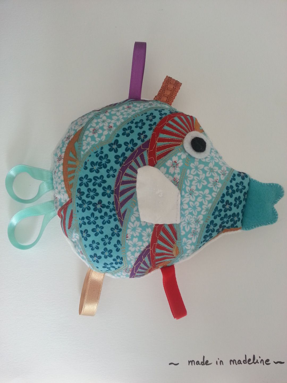 Kit coudre diy doudou tiquettes poisson exotique for Coudre a futur