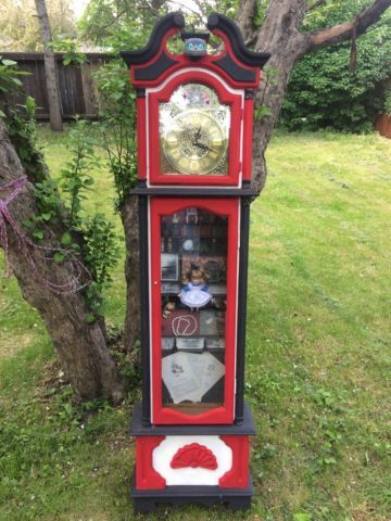 One Of A Kind Custom Alice In Wonderland Grandfather Clock Art