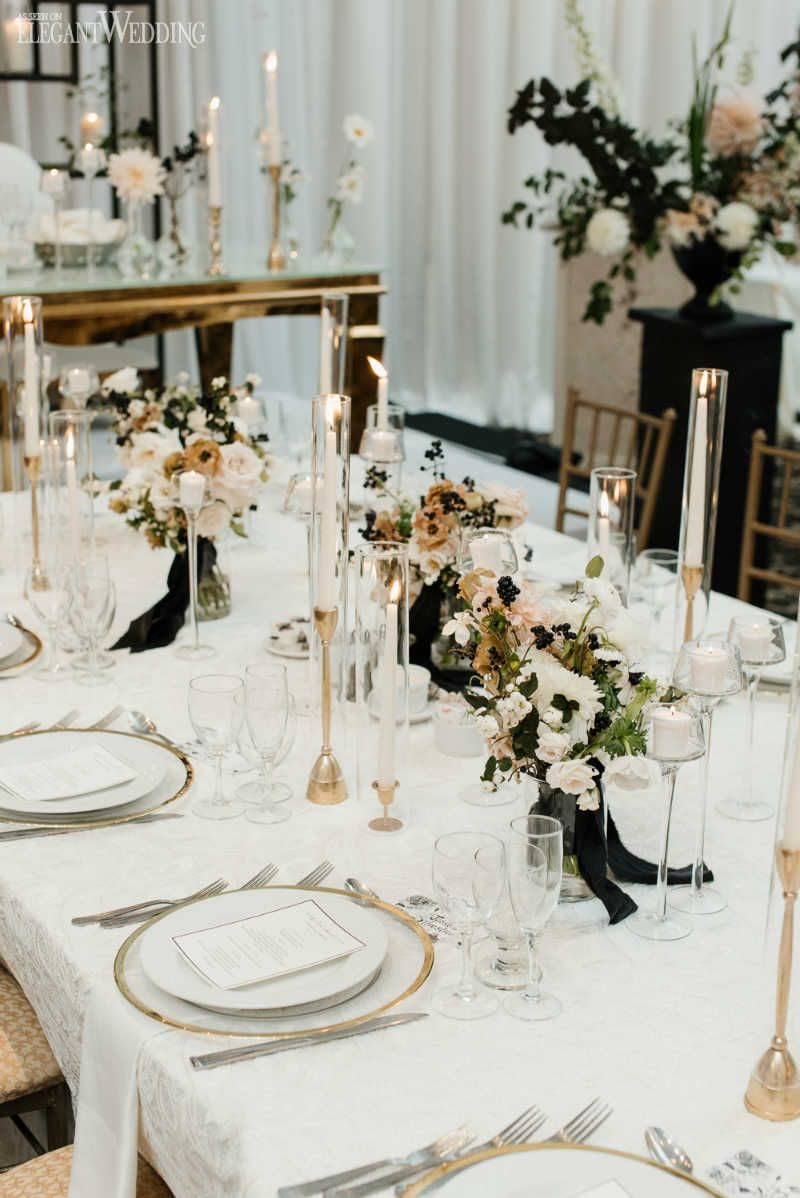 Modern Black and White Wedding | Anniversary party for ...