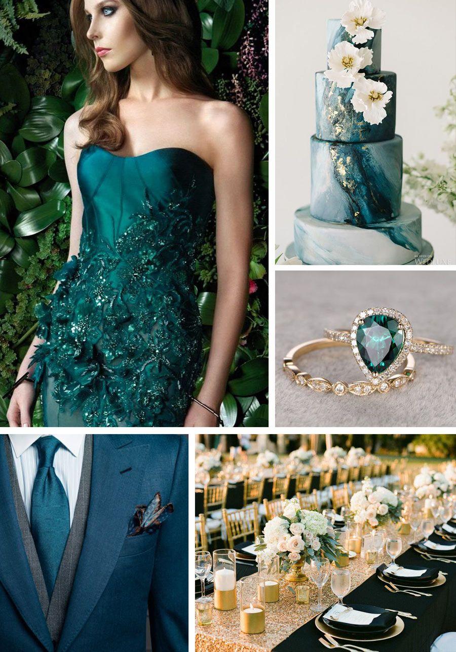Jewel Toned Wedding Colors Teal wedding colors, Teal