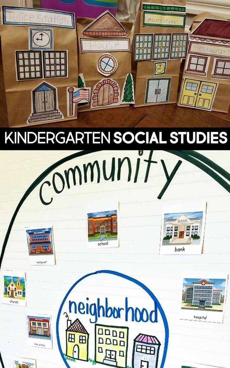 Kindergarten social studies unit plan my community
