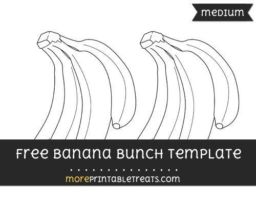 free banana bunch template medium shapes and templates