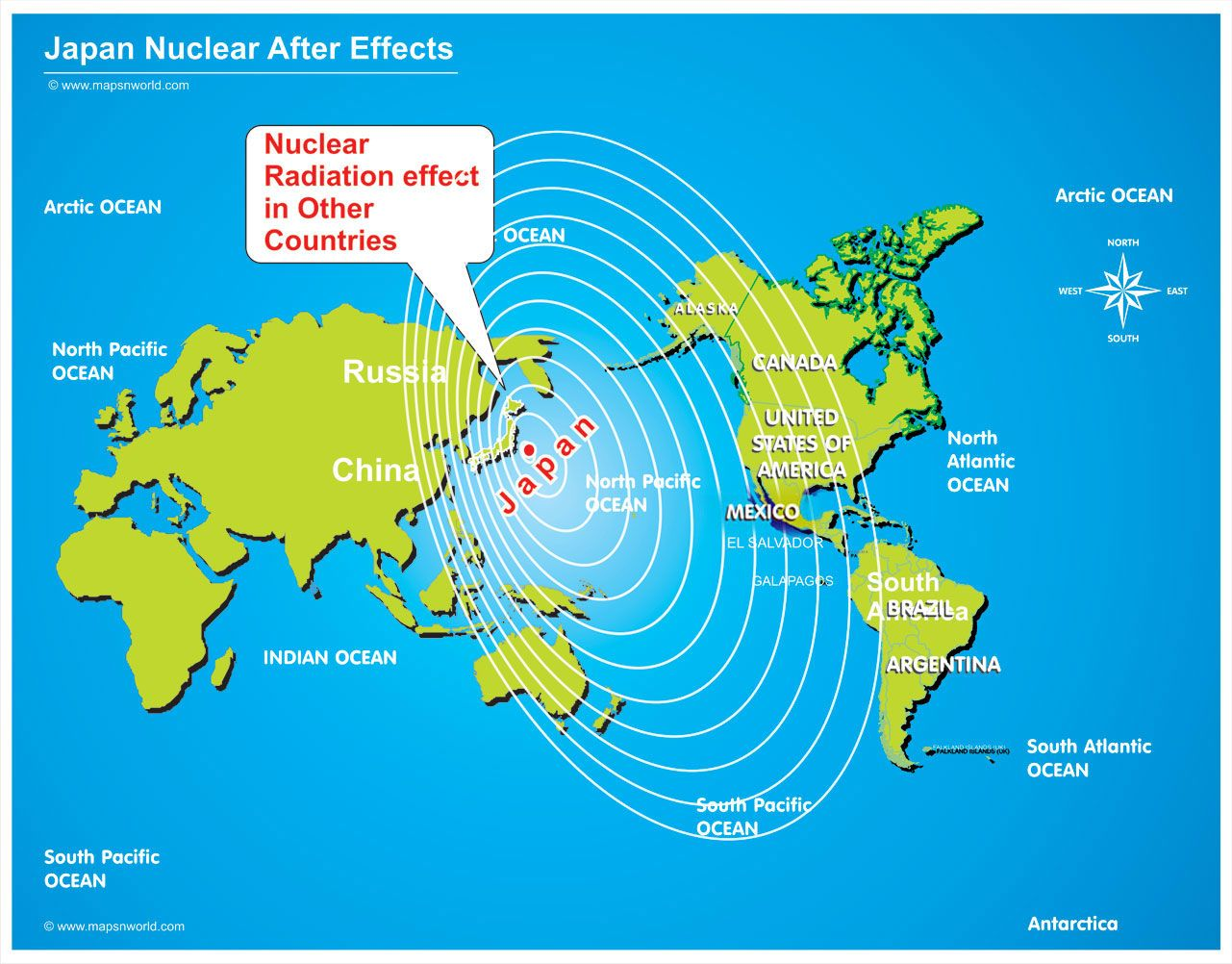 map of radiation from japan  the map showing the nuclear