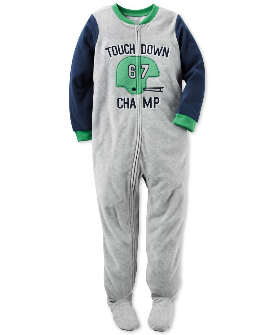 carter s pc touchdown champ footed pajamas toddler boys t t carter s 1 pc touchdown champ footed pajamas toddler boys 2t 4t