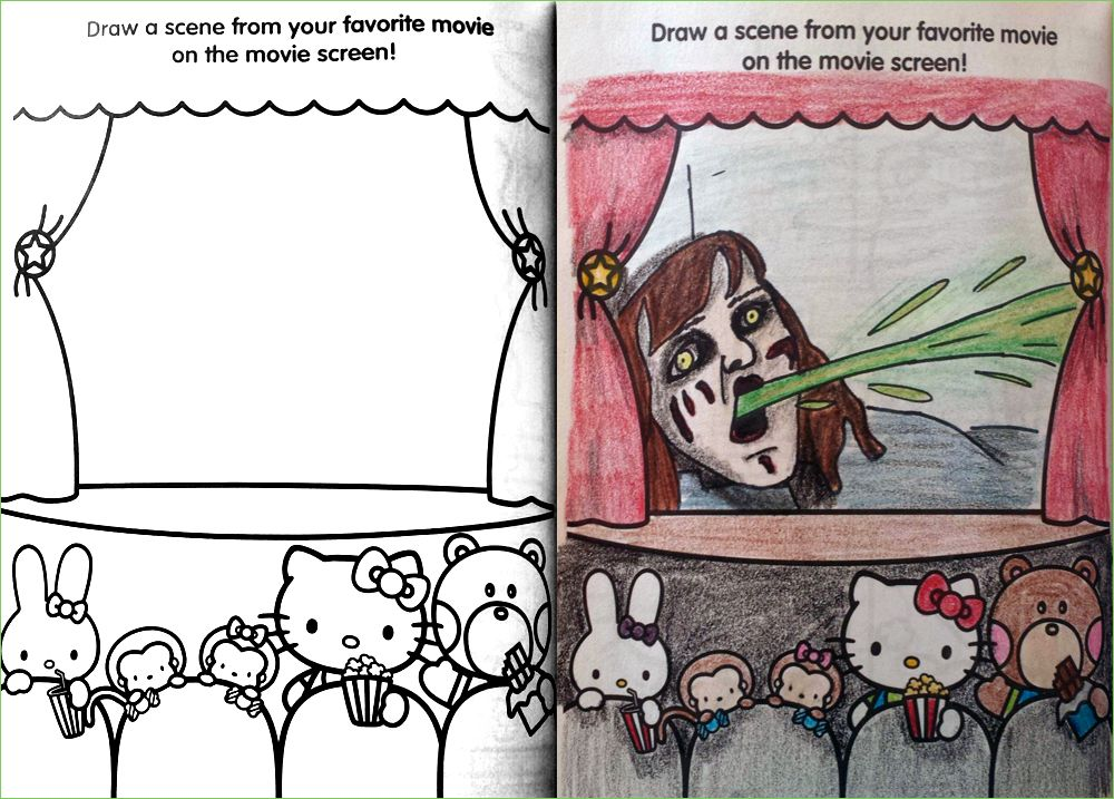 Coloring Book Corruptions Corrupt Coloring Book Coloring Books Funny Drawings