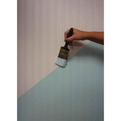 Beadboard Paintable Removable Wallpaper, White