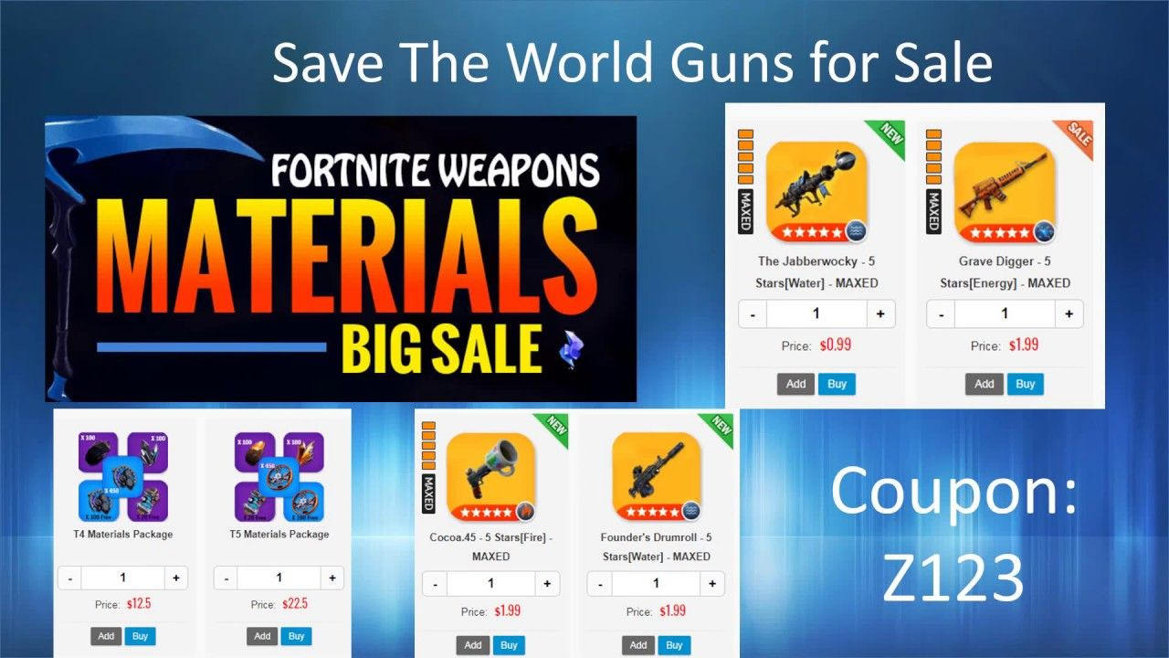 Fortnite Save The World Guns For Sale At U4gm 2019 U4gm Coupon