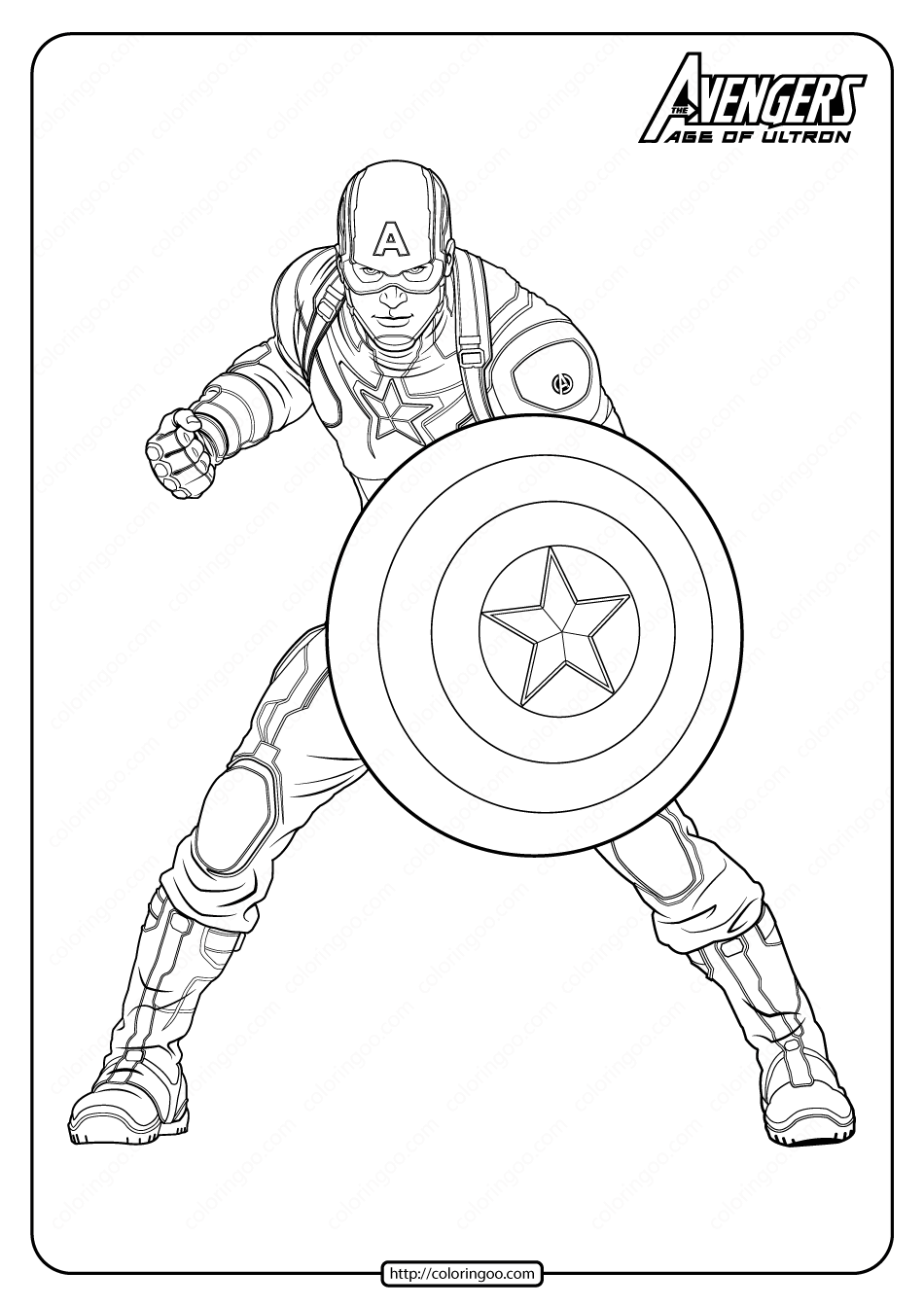 Marvel Avengers Captan America Pdf Coloring Pages Avengers Coloring Pages Superhero Coloring Pages Captain America Coloring Pages