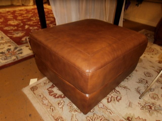 Rooms To Go Leather Ottoman Measuring 30 X 28 X Use It As A Coffee Table Or  A Footrest.