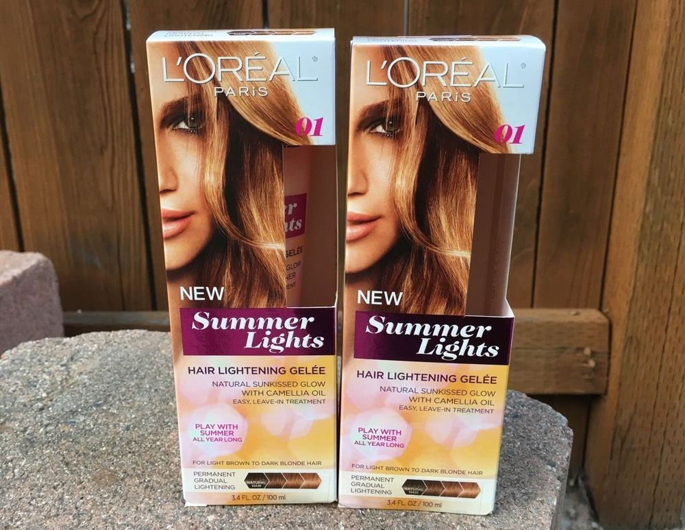 L Oreal Summer Lights Hair Lightening Gelee Light Brown Dark Blonde 2 Pack How To Lighten Hair Light Hair Natural Hair Styles