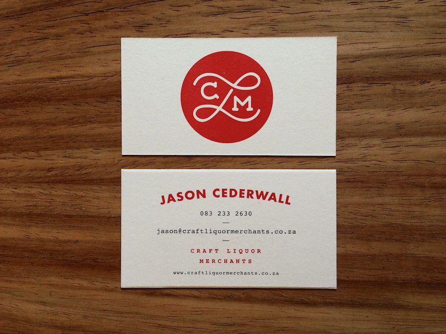Craft Liquor Merchants Business Card Design Inspiration Nerd