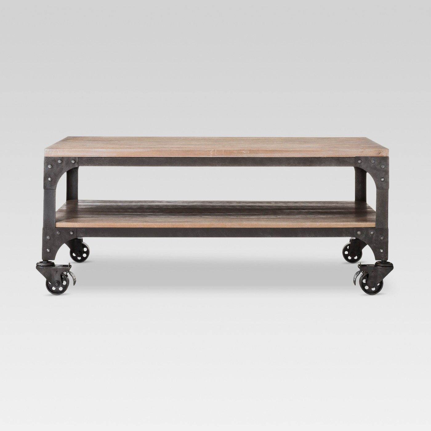 Franklin Coffee Table Weathered Gray  Threshold  Image 1