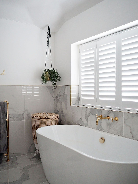 White Diy Window Shutters Bathroom Tile Around Window Bathroom Windows Diy Window