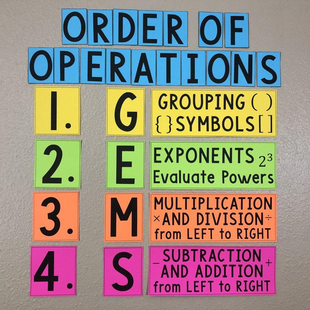 PEMDAS Order of Operations Poster | Mathematics Education