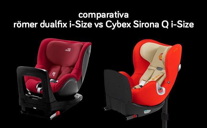 Comparativa Romer Dualfix I Size Vs Cybex Sirona Q I Size Columpios