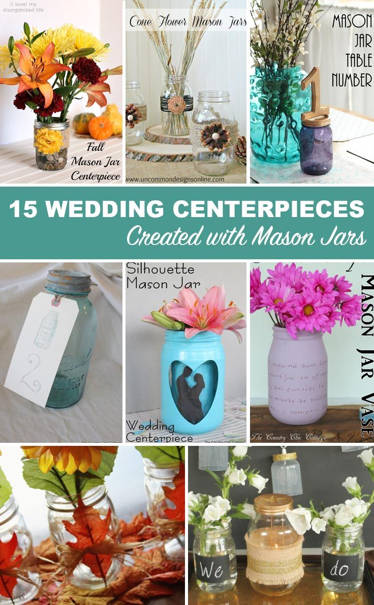 Wedding Decorations Using Mason Jars 15 Wedding Centerpieces Using Mason Jars  Click To Get Tons Of