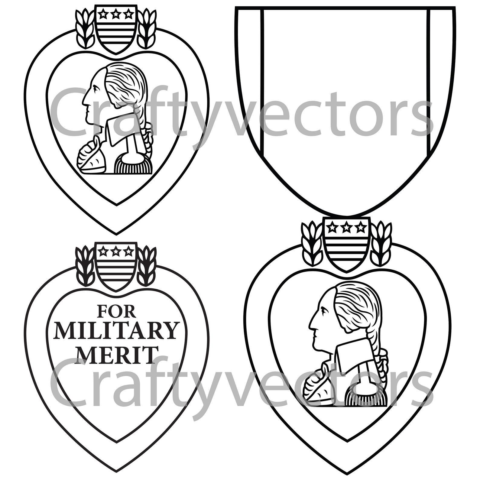 Purple Heart Medal Vector File In 2021 Purple Heart Medal Purple Heart Purple Heart Day