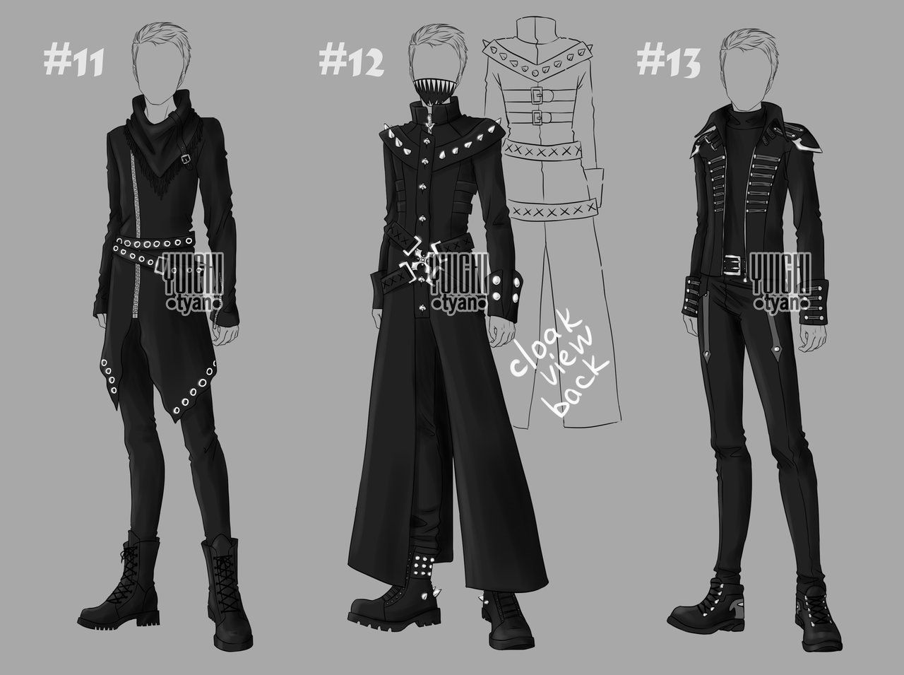[closed] Auction BW Outfit men 1113 by YuiChityan