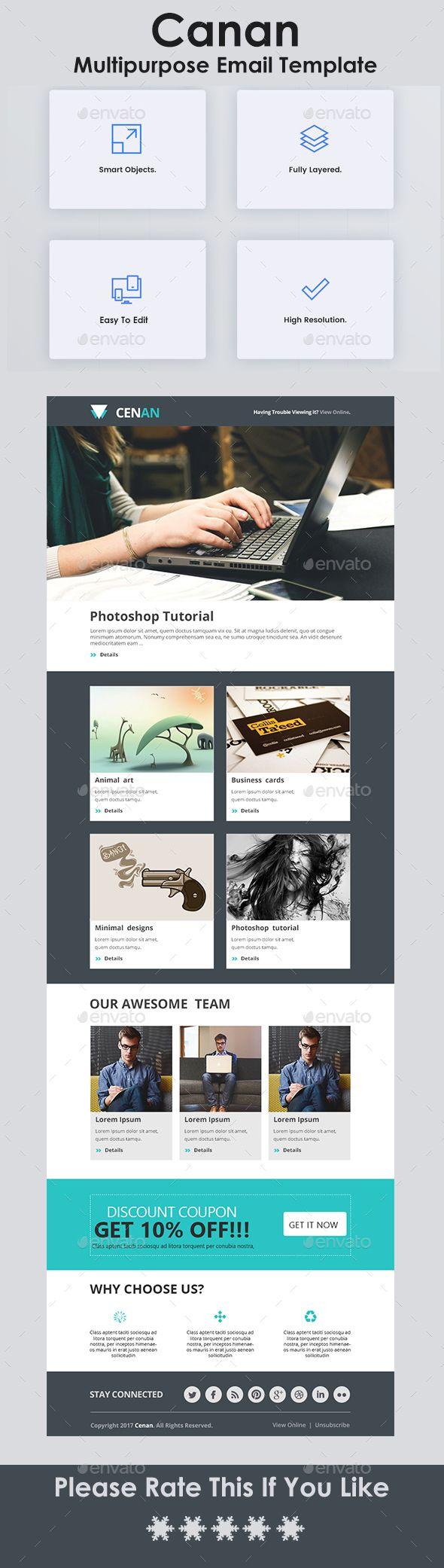 Multipurpose Email Template   Pinterest   Template, Newsletter ...