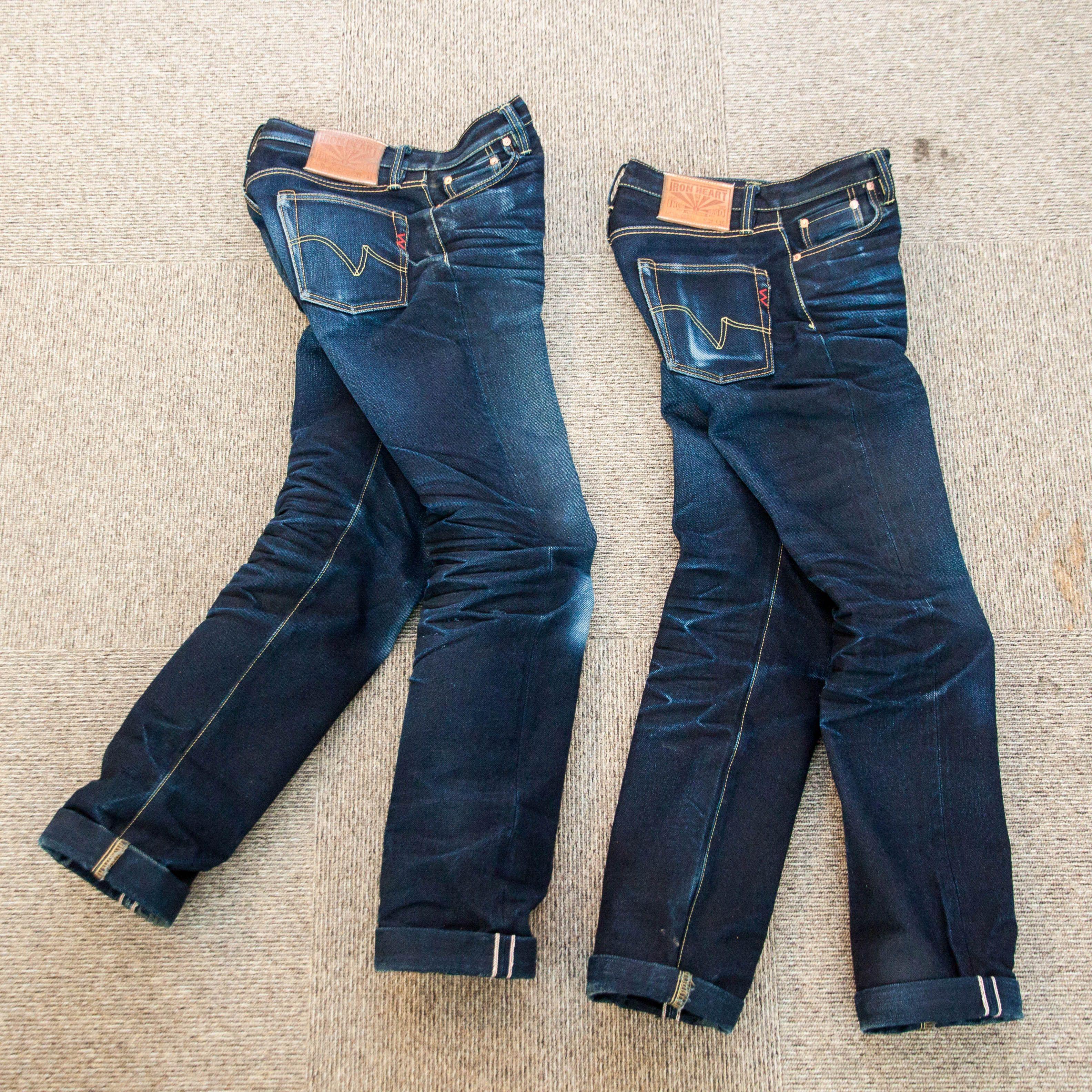 IH-666SII - 18oz Indigo/Indigo Slim Cut Jean