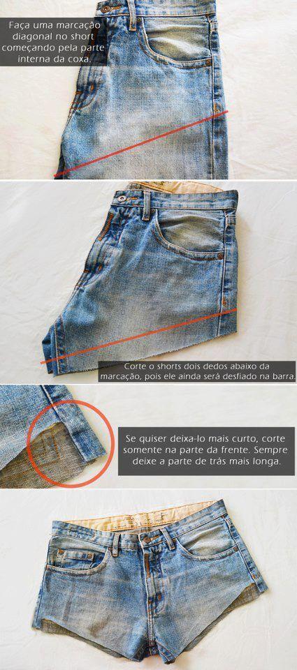 5654c7f229 Dicas para quem quer transformar aquela calça jeans velha em um belo shorts