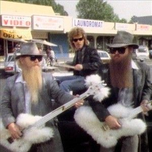 ZZ Top with their fluffy guitars