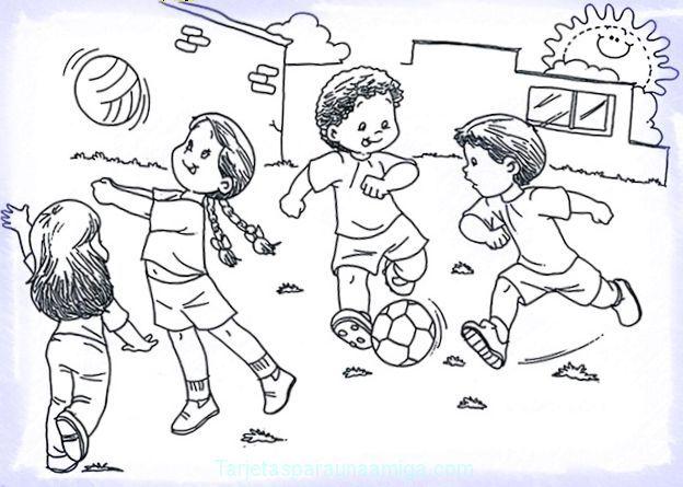 dibujos para pintar niños jugando | panajachel | Pinterest | Panajachel