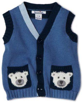 Hartstrings Baby-Boys Newborn Cotton Button Front Sweater Vest, Cadet Blue, 0-3 Months Hartstrings. $24.00