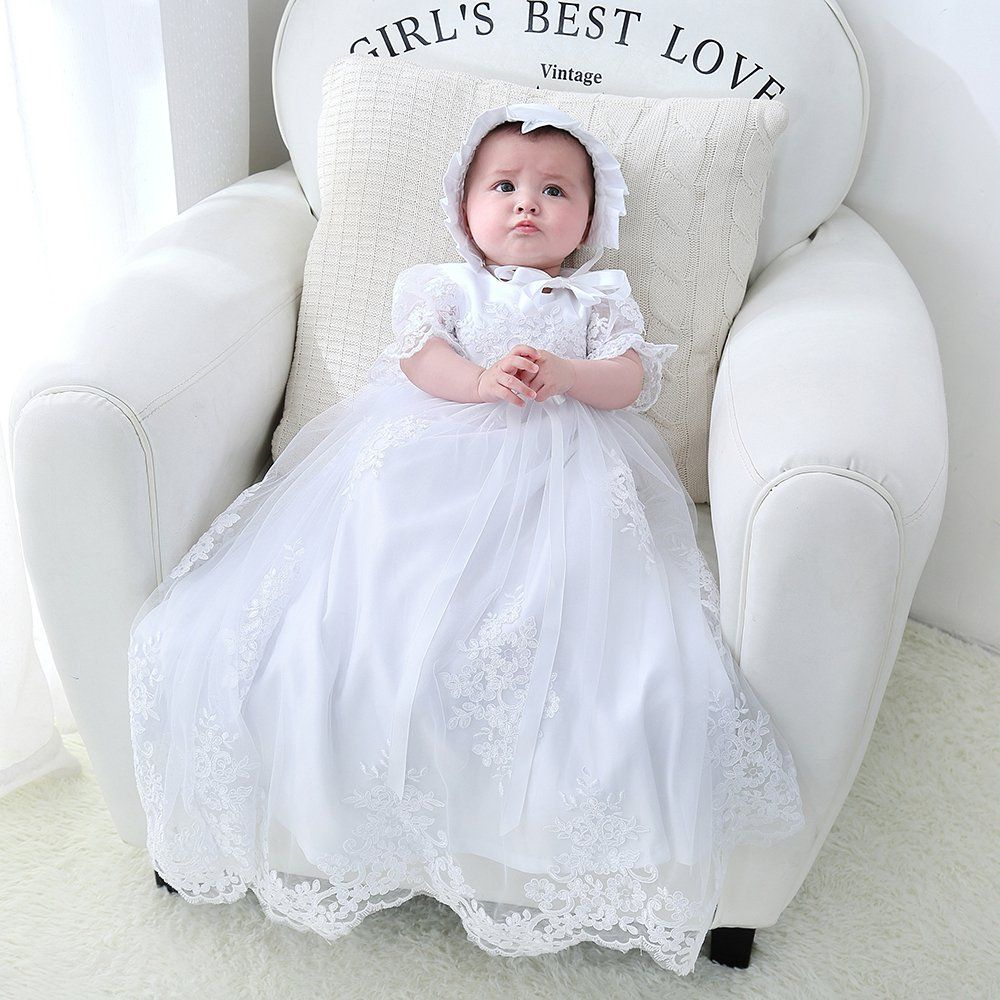 Baby Girls Christening Dress Baptism Dedication White Lace Gown For 012 Months Baby Girl Christening Dress Baby Girl Girl Christening Girls Christening Dress [ 1000 x 1000 Pixel ]