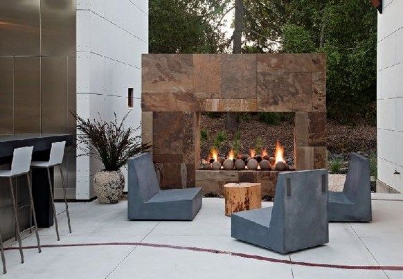 Free Standing See Through Gas Fireplace Outdoor Modern Outdoor Fireplace Outdoor Fireplace Designs Outdoor Fireplace