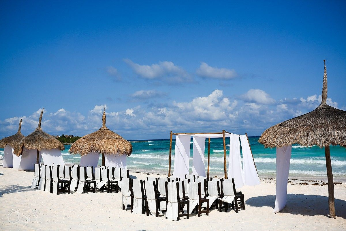 Mexico Beach Wedding Al Cielo Hotel An Exclusive In The Riviera Maya Gorgeous