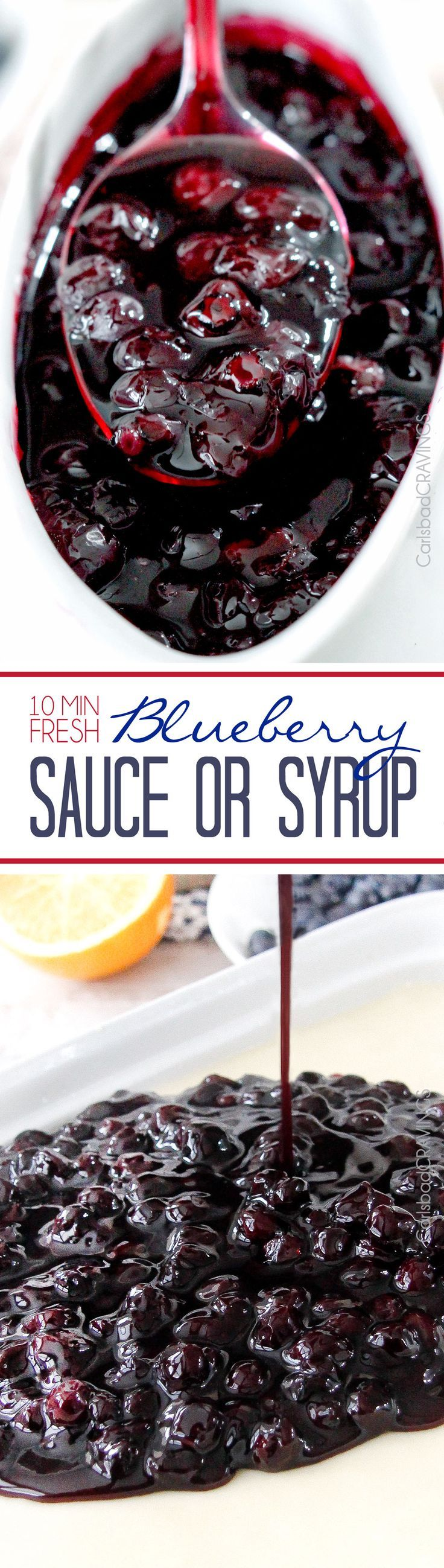 how to make blueberry syrup for cheesecake