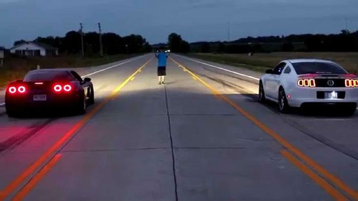 The Epic Battle Between a 700hp Chevrolet Corvette Z06 and 700hp Ford Mustang GT500