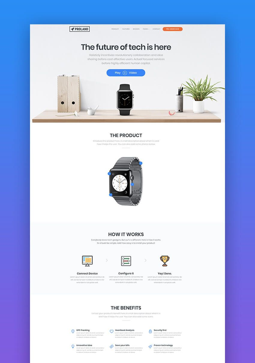 20 Great Product Landing Page Templates 2018 Design Examples Minimal Web Design Homepage Design Landing Page