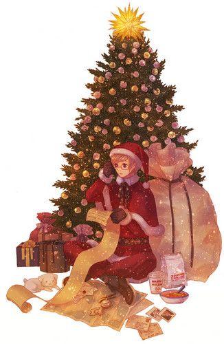 Hetalia Fan Art Merry Christmas Anime Christmas Hetalia Nordics Hetalia
