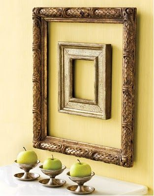 empty frames to decorate with... | Wall Arrangements | Pinterest ...