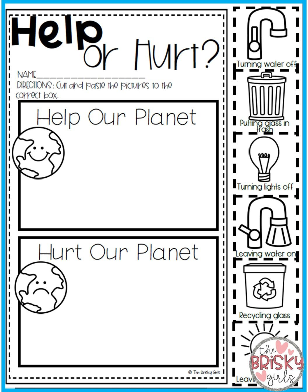 Earth Day Activities Take Home Packet Kindergarten