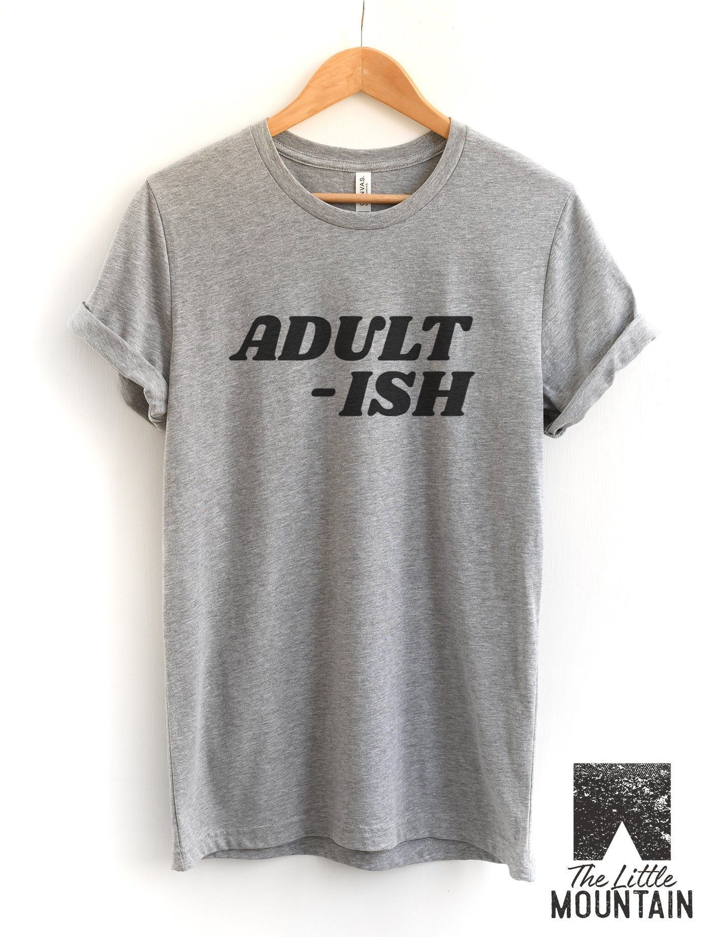 Childish Humor I Can/'t Adult Today Ladies T-Shirt Casual Trendy Funny Gift Top